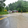 (Brad Davis/The Register-Herald) Scarbro road near the intersection at Glen Jean around 12:50 p.m. Monday afternoon.