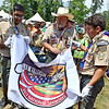 (Brad Davis/The Register-Herald) Scouts prepare for opening ceremonies for visiting United States Secretary of State Rex Tillerson Friday at the Bechtel Summit Reserve.
