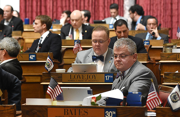 Mick Bates, D-Raleigh, during the legislative session Wednesday afternoon at the State Capitol in Charleston.<br /> (Rick Barbero/The Registr-Herald)
