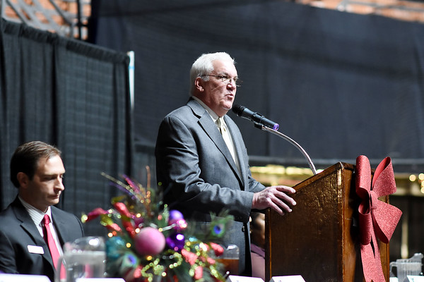 Beckley Mayor Rob Rappold speaks during the 31st annual Spirit of Beckley Award at the Beckley-Raleigh County Convention Center in Beckley on Monday. (Chris Jackson/The Register-Herald)