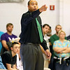 (Brad Davis/The Register-Herald) Wyoming East boys basketball coach Derrick Brooks against Westside January 6 in Clear Fork.