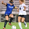 (Brad Davis/The Register-Herald) Princeton's Brittany Dye battles for possession with Shady Spring's Miranda Birchfield Thursday night at the YMCA Paul Cline Memorial Sports Complex.
