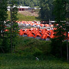 Scout tents are setup near Goodrich Lake on Thursday during the 2017 National Jamboree at The Summit Bechtel Reserve near Mt. Hope. (Chris Jackson/The Register-Herald)