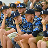 (Brad Davis/The Register-Herald) Students and members of the baseball look on as fellow classmates and community members speak out against the potential closing of Valley High School Thursday evening in Smithers.
