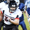 Webster County's Dawson Tharp (35) carries the ball during their high school football game against Meadow Bridge Friday in Meadow Bridge. (Chris Jackson/The Register-Herald)
