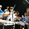 Members of the Midland Trail Alumni band perform during the end of the first quarter of their football game against Fayetteville Friday in Hico. (Chris Jackson/The Register-Herald)