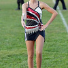 An Oak Hill Majorette performs before the game. Chad Foreman for the Register-Herald