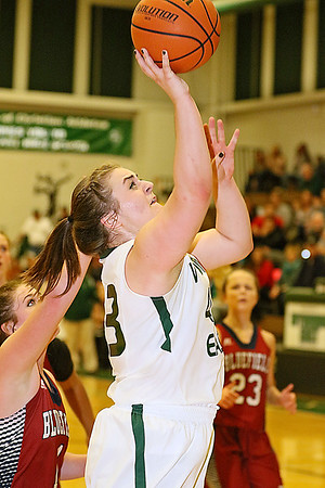 (Brad Davis/The Register-Herald) Wyoming East's Allie Lusk drives to the basket Wednesday night in New Richmond.