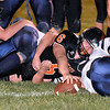 (Brad Davis/The Register-Herald) Summers County's Marcus McGuire reaches across the goal line for a 1st quarter touchdown Friday night in Hinton.