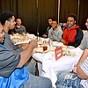 (Brad Davis/The Register-Herald) Members of the Woodrow Wilson boys team get settled in at their table during the Big Atlantic Classic Tip-Off Banquet Sunday afternoon at the Beckley-Raleigh County Convention Center.