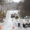 East Main Street in Oak Hill was closed off because of downed power poles caused by a storm that hit the area.<br /> (Rick Barbero/The Register-Herald)