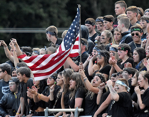 (Brad Davis/The Register-Herald) Shady Spring students during the Tigers' game against Lincoln County Friday night in Shady Spring.