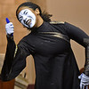 (Brad Davis/The Register-Herald) Gheilescia Harbison performs in mime to a passionate sermon as part of the 5th Annual Ministry in the Arts event at Heart of God Ministries Saturday evening. The program was started by Gheilescia and husband Jonathan Harbison, who say they were given a vision in June 2012 to bring unconventional worship to the area. M.I.A. was born out of that vision, incorporating various art forms such as mime, spoken word, dance and drama to inspire and minister to the lost. The program featured guests including poet Ezekiel Azonwu, psalmist Matthew Austin and emcee Robin Davis.