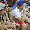 (Brad Davis/The Register-Herald) Summers County students watch as events on the court turn against the Lady Bobcats during a tough loss to St. Joseph Central that ended their state tournament run and season Friday afternoon in Charleston.