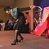 (Brad Davis/The Register-Herald) Elliot Butcher during the annual Hunks in Heels fundraising event for the Women's Resource Center Friday night at the Beckley Moose Lodge.