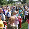 (Brad Davis/The Register-Herald) The crowd at the Nicely Park dedication Friday afternoon in White Sulphur Springs.