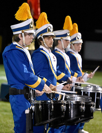 (Brad Davis/The Register-Herald) The Shady Spring marching band performs at halftime Friday night in Coal City.