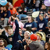 Nicholas County students toss balloons prior to kickoff of their high school against James Monroe Friday in Summersville. (Chris Jackson/The Register-Herald)