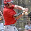 (Brad Davis/The Register-Herald) Independence's Tyler Haga makes contact against Princeton during the Jeff Treadway Memorial Wooden Bat Tournament Saturday afternoon in Coal City.