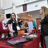 (Brad Davis/The Register-Herald) Concord University faculty members (from left) Sarah Wambe, Amy Walker and Lori Pace hang out and chat inside the Erma Byrd Higher Education Center during a celebration of the facility's 10-year anniversary Friday afternoon.