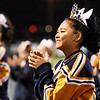 Nicholas County cheerleaders cheer on their side during their high school football game against Richwood Friday in Summersville. (Chris Jackson/The Register-Herald)
