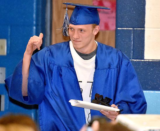 (Brad Davis/The Register-Herald) Meadow Bridge High School's 2017 commencement ceremony Saturday afternoon.