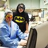 Barbara Clay and Teresa Ornold, both nurses at Appalachia Regional Hospital in Beckley, dress up like superheroes on the job for Nurses Week. (Chris Jackson/The Register-Herald)
