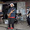 "(Brad Davis/The Register-Herald) Blues legend Johnny Rawls performs with bandmates Adam Sheets on keyboard, Kevin Neel on drums John Lohse on bass during the Simply Jazz and Blues Festival's ""Blues Block Party"" at the Beckley Underground Saturday evening."