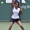 (Brad Davis/The Register-Herald) All-time tennis great Venus Williams plays against Martina Hingis during the Greenbrier Champions Tennis Classic Saturday afternoon in White Sulphur Springs.