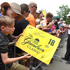 Phil Mickelson signs autographs after the third round of The Greenbrier Classic.<br /> (Rick Barbero/The Register-Herald)