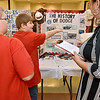 (Brad Davis/The Register-Herald) Anawalt (McDowell County) Elementary 3rd-graders Landon Belcher (pointing) and partner Isaac Bowler describe their project on Dodge vehicles and the company's motorsports history to judges Michelle Moore and Christine Kinder (hidden at right) during the R.E.S.A. 1 Regional Social Studies Fair Saturday morning at the Beckley-Raleigh County Convention Center. Students from Monroe, McDowell, Raleigh, Summers and Wyoming Counties presented 191 projects with awards going out in nine different categories over three grade divisions (3rd-5th, 6th-8th and 9th-12th).