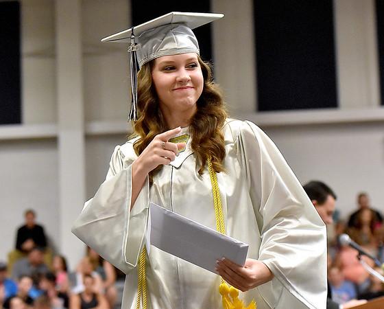 (Brad Davis/The Register-Herald) Westside High School's 2017 Commencement Ceremony June 4 in Clear Fork.