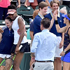 (Brad Davis/The Register-Herald) The Volunteers ball crew gets to meet greats Martina Hingis and Venus Williams after their match at the Greenbrier Champions Tennis Classic Saturday afternoon in White Sulphur Springs.