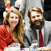 Aryn and Sam Fonda, owners of Weatehred Ground Brewery during the 31st annual Spirit of Beckley Award at the Beckley-Raleigh County Convention Center in Beckley on Monday. (Chris Jackson/The Register-Herald)