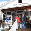 Gary Jarrell, owner, right, speaks to James Jarrell, costumer, on the proch of the Charles B. Jarrell General Store on Coal River Road in Dry Creek<br /> (Rick Barbero/The Register-Herald)