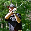 (Brad Davis/The Register-Herald) Mike Mays tees off on 17 during BNI action Sunday afternoon at Glade Springs' Stonehaven Golf Course.