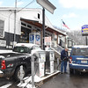 Gary Jarrell, owner, pumps gas for a costumer at Charles B. Jarrell General Store on Coal River Road in Dry Creek<br /> (Rick Barbero/The Register-Herald