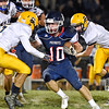 (Brad Davis/The Register-Herald) Independence's Connor Gibson  carries the ball Friday night in Coal City.