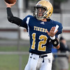 (Brad Davis/The Register-Herald) Shady Spring quarterback Joe Cantley against Lincoln County Friday night in Shady Spring.