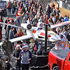 (Brad Davis/The Register-Herald) A near life-sized rendition of the famous rebel X-wing fighter from Star Wars makes its way up Neville Street as a float during the Beckley Christmas Parade Saturday afternoon.