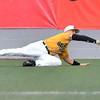 (Brad Davis/The Register-Herald) Miners right fielder Austin Norman dives to make a catch Friday night at Linda K. Epling Stadium.