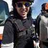 (Brad Davis/The Register-Herald) Columbus, Georgia resident Nick King is ready to fly, mullet wig and all, during Bridge Day Saturday afternoon.