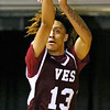 (Brad Davis/The Register-Herald) Virginia Episcopal's Jaelin Llewellyn shoots from three-point range during the consolation game in the Battle for the Armory Basketball Tournament Friday night at the Beckley-Raleigh County Convention Center.