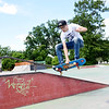 "Preston Canterbury, from Oak Hill, does an ""Early-Side-180"" at the Freedom Skae Park in Beckley Monday. (Chris Jackson/The Register-Herald)"