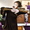 "(Brad Davis/The Register-Herald) Church member Gheilescia Harbison performs a liturgical dance called ""Angels Watching Over Me"" during Heart of God Ministries' Black History Month celebration Sunday evening."