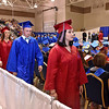 (Brad Davis/The Register-Herald) Graduating seniors make their way to the stage to collect their diplomas during Midland Trail's 41st Commencement Ceremony Friday night at the Summersville Armory.