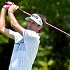 (Brad Davis/The Register-Herald) Bubba Watson tees off on #4 during first round Greenbrier Classic action Thurdsay afternoon in White Sulphur Springs.