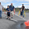 (Brad Davis/The Register-Herald) 8-year-old Parker Wriston practices his fire hose skills, one of several cool things youngsters could do during a Raleigh County Firefighter Day event geared towards a mixture of showcasing firefighter tactics and attracting needed volunteers to several departments around the county.