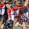 (Brad Davis/The Register-Herald) Indy cheerleaders perform Friday night in Coal City.