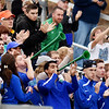 Robert C Byrd fans react to a goal during their semi-final AA-A boys soccer match against Weir during the West Virginia State Soccer Tournament in Beckley on Friday. (Chris Jackson/The Register-Herald)